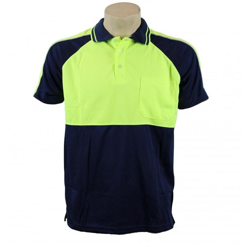 8060 upf hi vis polo for Hi vis polo shirts with pocket